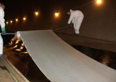 carbon fiber being installed