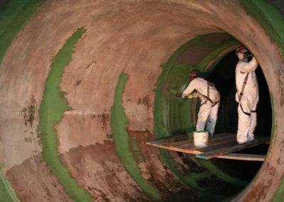 industrial coating in circulating water line